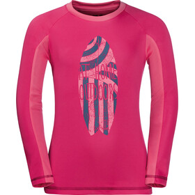 Jack Wolfskin Shoreline - T-shirt manches longues Enfant - rose